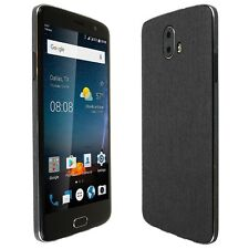 Skinomi Brushed Steel Skin+Clear Screen Protector for ZTE Blade V8 Pro