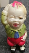 VINTAGE CK JAPAN CELLULOID WIND UP CRYING BOY WITH BEE STINGING HIS HEAD