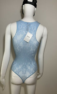 Wolford Sheer Lace Bodysuit String Top UK Size XS Brand New With Tags RRP £145