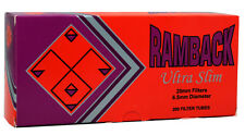 5 (Five) Ramback Ultra Slim 20mm/6.5 Diameter Cigarette Tubes (200ct Carton)