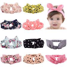 10PCS Baby Girl Toddler Bow Head Rabbit Ears Head Wrap Hair Band Turban Headband
