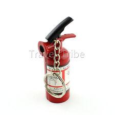 EDC Mini Fire Extinguisher Style Refillable Butane Cigarette Lighter Key Ring