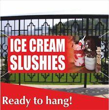 Ice Cream Slushies Advertising Vinyl Banner Mesh Banner Sign Water Ice Fruit