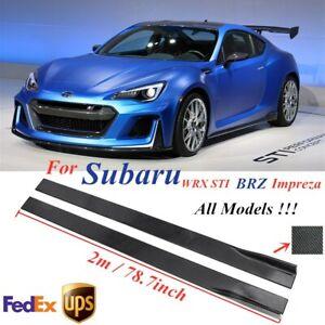 78.7'' Carbon Fiber Side Skirt Extension Lip Rocker For Subaru Impreza WRX STI