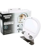 Sharper Image Shower Radio Anti-Fog Mirror FM AM Water Resistant Clock Light