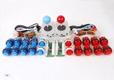 Arcade DIY Kits Parts USB Encoder to PC 2 Joystick + 20 LED Illuminated Buttons