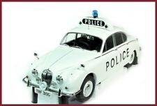 1962 JAGUAR 240 MARK II POLICE CAR 1/18 BY MODEL ICONS WHITE 999001 NEW