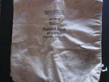 Vintage Canvas Deposit Bank Bag From Valley National Bank Phoenix Arizona