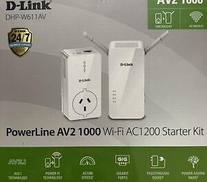 D-LINK Powerline AV2 1000 WI-FI AC1200 STARTER KIT DHP-W611AV AV2.1