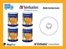 ($0 P&H) Carton lots Verbatim DVD-R 4.7GB White InkJet 4 X 100PK Spindle 95153