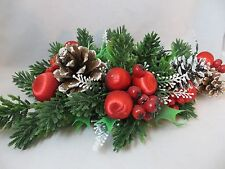 Holiday Candle Wreath Beautiful Full Wreath With Pinecones & Berries Centerpiece