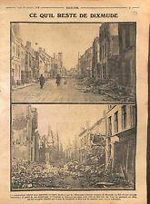 Ruines Dixmude Soldiers Feldgrauen Deutsches Heer Belgique Belgie WWI 1914