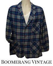 New listing Vtg 60s Mens Pendleton Teal Red Grey Wool Plaid 49er Blazer Jacket L Mint