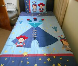 QUILT COVER SET - SINGLE BED - NOVELTY - POLYCOTTON - KIDS - CHILDS - USED SALE