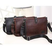 Fashion Leather Men's Briefcase Messenger Laptop Document File Satchel Bag Tote
