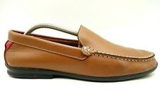 Foot Joy FJ Logo Brown Leather Casual Slip On Driving Loafers Shoes Men's 10 M