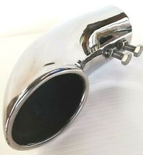 TOYOTA HILUX VII 7th GEN 06-15 63MM SS CHROME TURN DOWN ROLLED END EXHAUST TIP