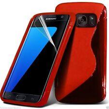 Calidad Ultra Slim Duro Choque Protección S-GEL Piel Funda de Teléfono ✔ Rojo