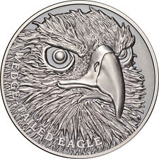 1 Ounce Silver Antique High Relief Wildlife upclose Wedge Tailed Eagle Niue 2019