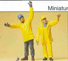 PREISER G SCALE FIGURES PEOPLE WORKING MODERN WORKMEN SIGNALING | 45089