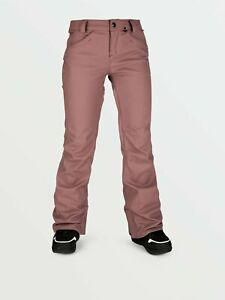 2021 NWT WOMENS VOLCOM SPECIES STRETCH PANTS $190 S Rose Wood slim fit 2 layer