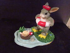 Charming Tails Come On In The Water'S Fine 83/804 Rabbit Floatie Snail