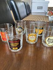 Vintage whiskey spirits glasses pheasants x 6