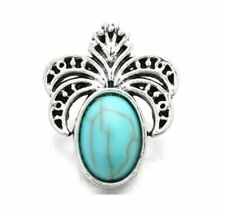 3dcrystal Turquoise Pineapple Charm Snap Button Fit for Noosa Necklace/bracelet