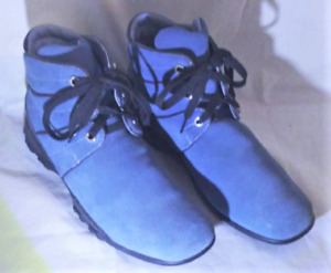Vintage Cole Haan Blue Suede Y2K Style Bootie Boots Size 10