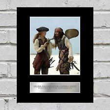 Keira Knightley and Johnny Depp Signed Photo Display Pirates of the Caribbean