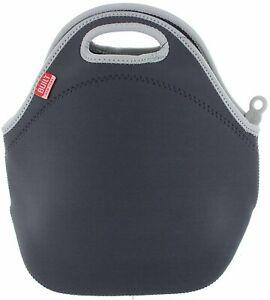 BUILT NY Gourmet Getaway Insulated Reusable Hot Cold Lunch Bag Tote, Dark Gray