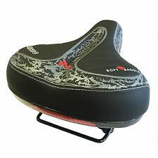 Wide Big Bum Bike Bicycle GEL Cruiser Comfort Sporty Soft Pad Saddle Seat Bt20
