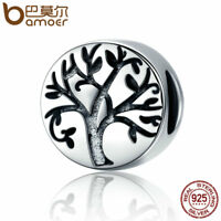 BAMOER Retro S925 Sterling silver Charm Tree Life Bead For bracelet Jewelry