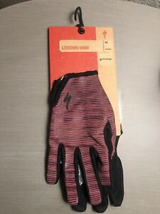 Specialized Womens Lodown Cycling Glove Long Finger LF Cast Berry Medium MTB