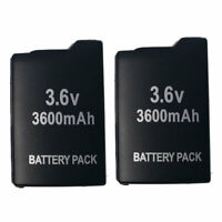 2X 3.6V 3600mAh Replacement Battery Pack for Sony PSP 1000 Durable Replacement