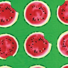 Fabric Watermelon Slices Take a Bite on Green Cotton by the 1/4 yd