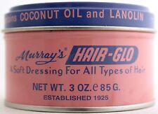 MURRAY'S (MURRAYS) HAIR-GLO SOFT DRESSING POMADE LANOLIN & COCONUT OIL  3 OZ.