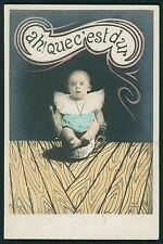 Child Baby chamber Pot fantasy original old 1910s photo postcard