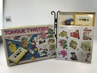 Vintage 1980s Discovery Toys TONGUE TWISTERS Phonics Cassette Game