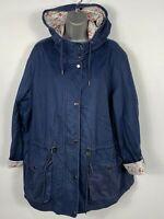 WOMENS TU SAINSBURYS NAVY BLUE ZIP UP HOODED LIGHTWEIGHT CASUAL JACKET COAT UK22