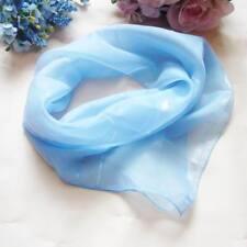 Chiffon plain light blue Soft Neckerchief Shawl Head Bandanas Square Scarf