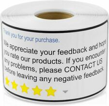 """Thank You for Your Purchase 2""""x 4"""" Amazon, Walmart, eBay, 600 Labels Ships Free!"""