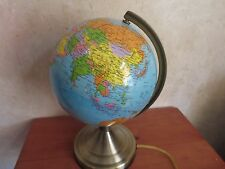 3 Way Touch Night Light Globe ~ Geographical World Globe Atlas Desk Lamp Nice!