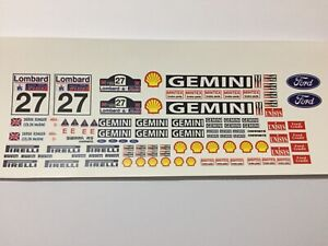 1/18 scale Modified Tuning SPONSOR waterslide decals pack MMM (clear backing)