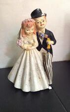 statuette personnage LES MARIÉS années 50 DÉCO CHARME ANCIEN JUST MARRIED