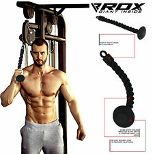 RDX Tricep Single Rope Push Pull Down Multi Gym Bodybuilding Cable Attachment SG
