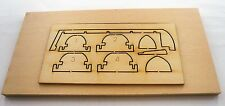 "Model Shipways Fittings MS 0106 Plank On Frame Life Boat Kit 3-3/4"" ( 95MM )"