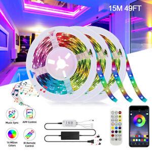 15M Bluetooth Music 5050 Colorful LED Strip Light SmartPhone APP Control