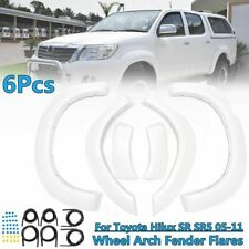 Pair New White Front Fender Flares For Toyota Hilux 2005-2011 NEW