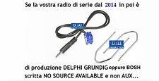 """KIT cavo aux Fiat Qubo e 500 dal 2015 radio Bosch """"no source available"""" da 1,4mt"""